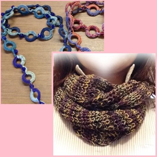 編み物マフラー
