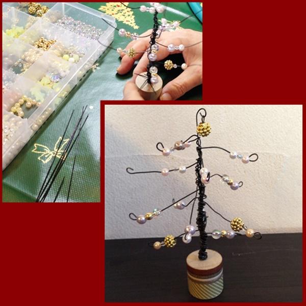 ワイヤーのクリスマスツリー