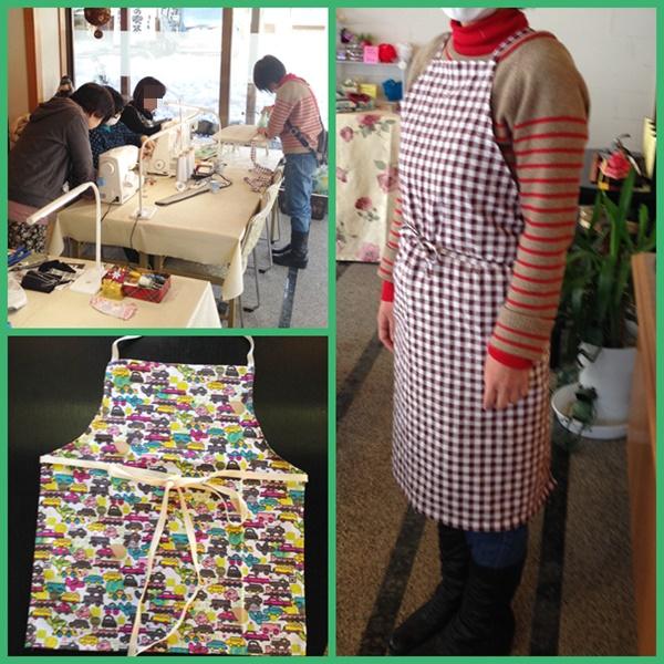 縫い物教室エプロン