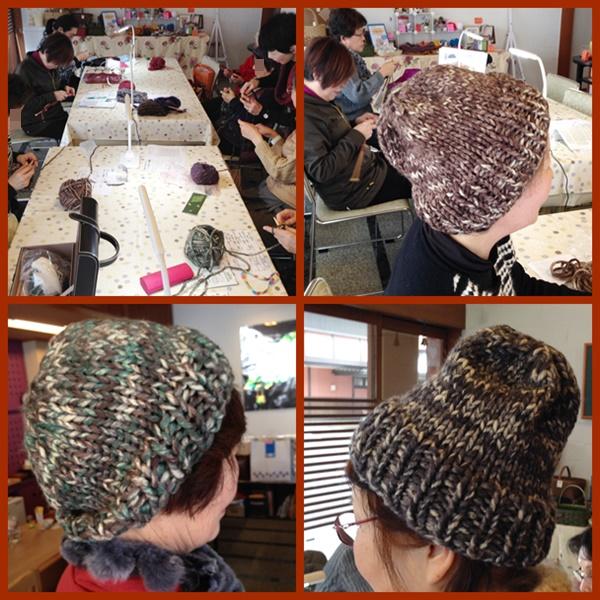 編み物帽子
