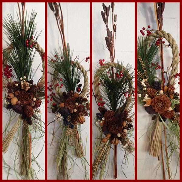 木の実のしめ飾り 2