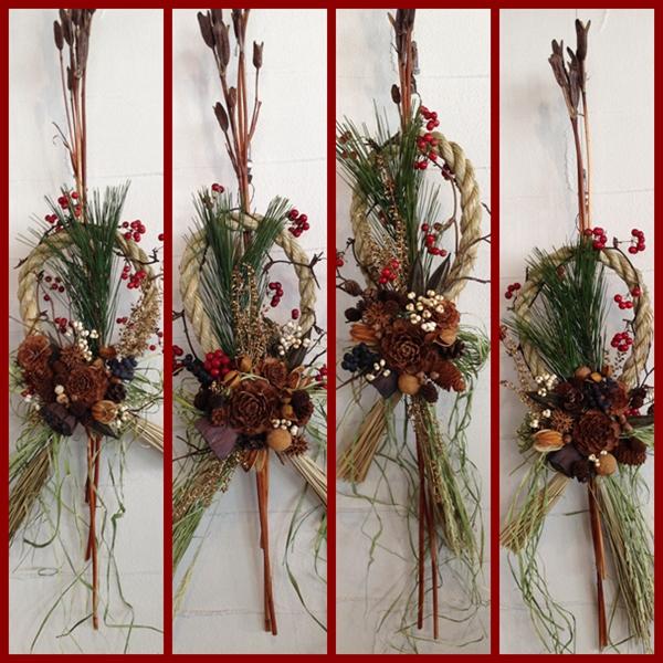 木の実のしめ飾り 1
