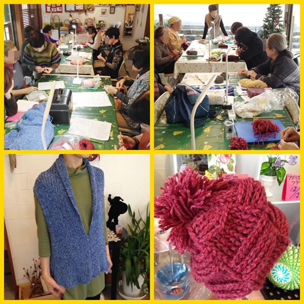 編み物教室12月
