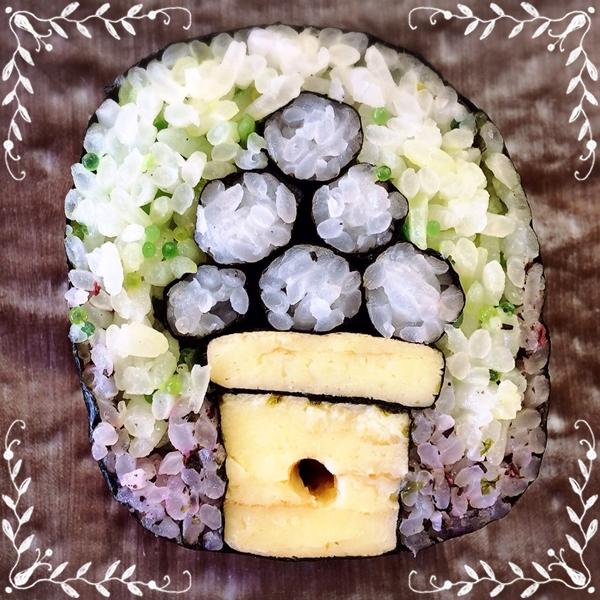 巻き寿司 月見団子